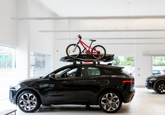 Land Rover with Bike and roof storage